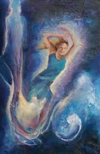 Schilderij: ´Dansen tussen de sterren´ van Aad Orgelist
